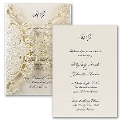 Exquisite Lace Invitation > Wedding Invitations Staples