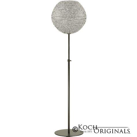 clear ball floor l crystal ball floor candelabra adjustable height 18