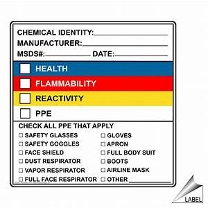 chemical identity manufacturer msds date label hazchem With all hazardous chemical labels must be