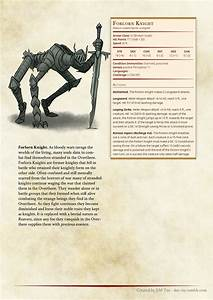 Unbound Monster Manual  Folorn Knight In 2020