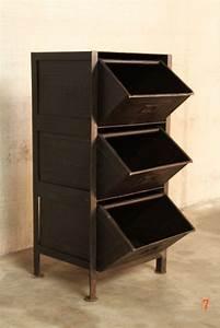 Petit Meuble A Tiroir : meuble industriel tiroirs petit meuble d 39 appoint deco pinterest meubles industriels ~ Teatrodelosmanantiales.com Idées de Décoration