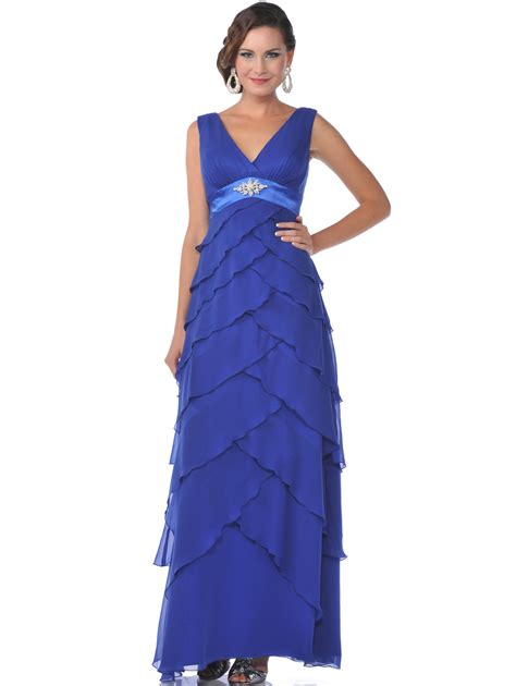 Chiffon Tiered Evening Dress   Sung Boutique L.A.