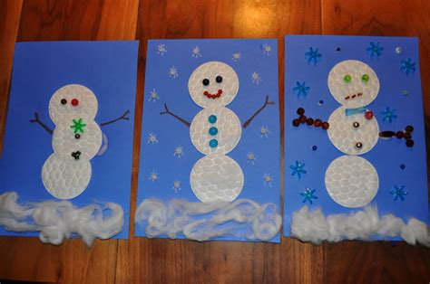 cotton rounds snowman family crafts 476 | snow139