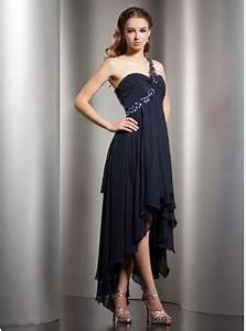 empire one shoulder asymmetrical chiffon homecoming dress With robe forme empire