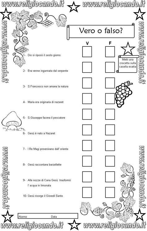 Test Ingresso Scuola Primaria - prova di ingresso di religione cattolica per la classe