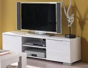 Meuble Blanc Laqué Ikea : meuble t l blanc laqu bloom ~ Premium-room.com Idées de Décoration