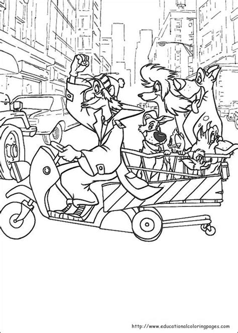 oliver  company coloring pages educational fun kids