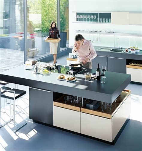 kitchen island design with cooktop kitchens from german maker poggenpohl Kitchen Island Design With Cooktop