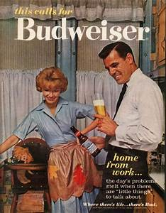 1962 Budweiser Beer Vintage Ad  U0026quot Home From Work U0026quot