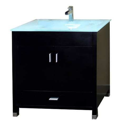 vanity with top and sink shop bellaterra home black integrated single sink bathroom