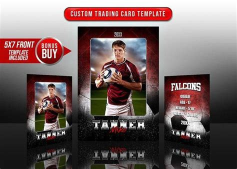 sports trading cards   template grunge fx soccer