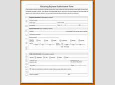 11+ recurring credit card authorization form Lease Template