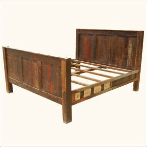 California King Bed Headboard And Footboard by Reclaimed Wood Rustic Distressed California King Bed
