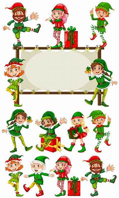 Elves Border Christmas Template Vector Templates Elf