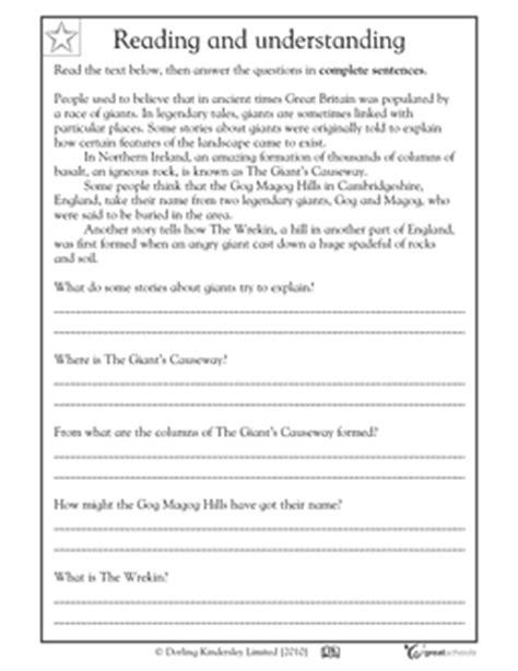 2nd Grade Ela Worksheets Grade 3 Comprehension Scalien