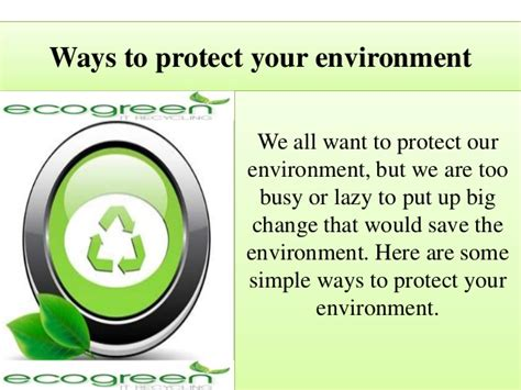 Ways To Protect Your Environment