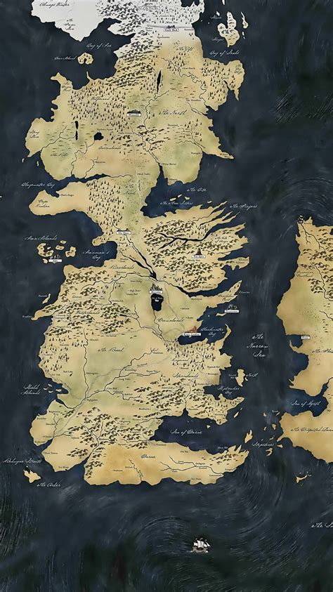 game  thrones map iphone  wallpaper hd