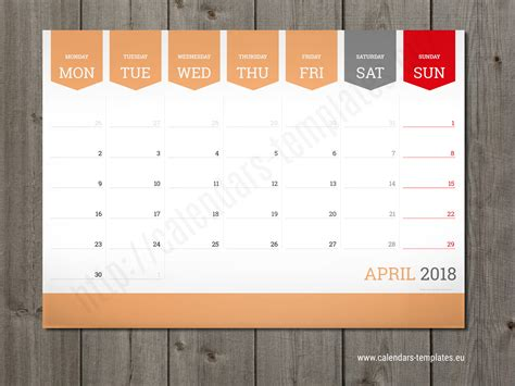 monthly planner template monthly calendar 2018 planner wall or table pad planner template