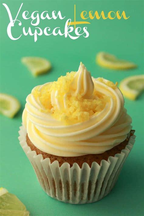 vegan lemon cupcakes moist  perfect loving  vegan