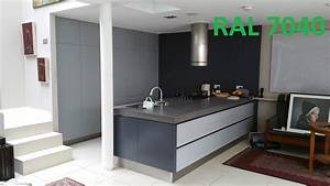 Ral 7040   Ral 7015 Kitchen Resprayed In Custom Colour