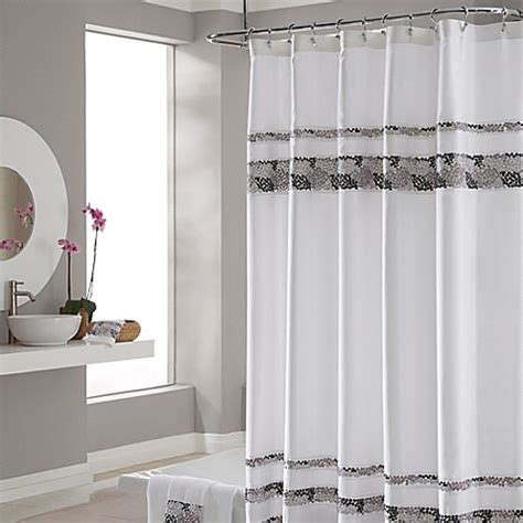 Deco Drapes - croscill 174 deco bain tile shower curtain bed bath beyond