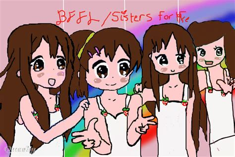 bff an anime speedpaint drawing by kawaii8 queeky draw paint