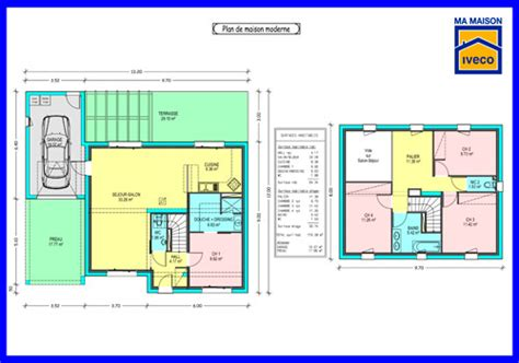 plan maison 4 chambres etage plan de maison a etage