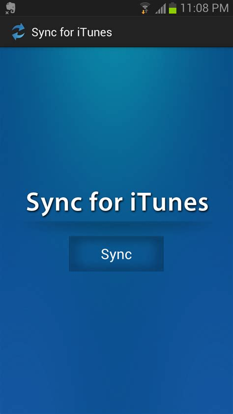 itunes for android sync for itunes appstore for android
