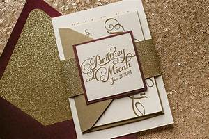 fall wedding invitations mid south bride With wine red and gold wedding invitations