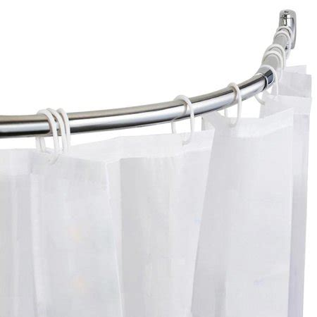 curved curtain rod walmart yaheetech extendable curved rail bath shower curtain
