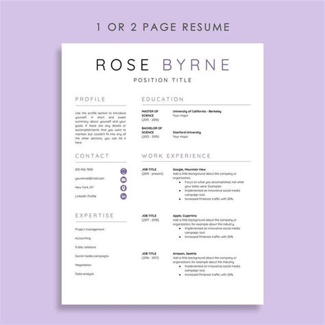 5 Resume Templates by Our 5 Favorite Docs Resume Templates