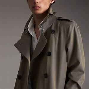 Trench Coat Burberry Homme : trench coat en gabardine de coton bleu orage homme burberry ~ Melissatoandfro.com Idées de Décoration