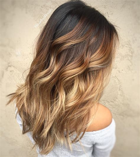 Hair Brunettes by 20 Sweet Caramel Balayage Hairstyles For Brunettes And Beyond