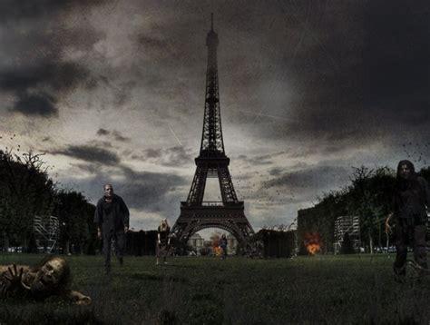 zombie apocalypse photoshop designcrowd outbreak tower eiffel landmarks disease famous realistic paris infectious iconic zombies imagine london ancient times modern