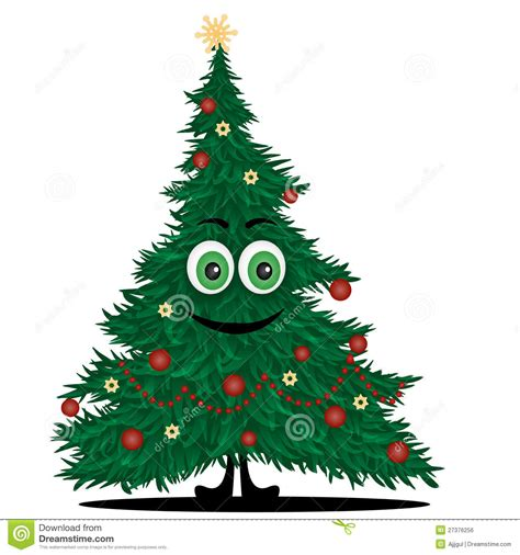 lustiger weihnachtsbaum vektor abbildung bild von gro 223
