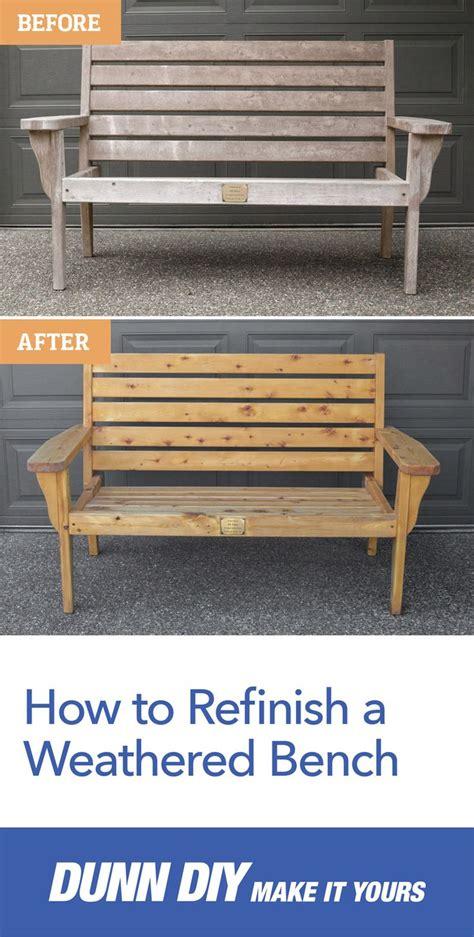 refinish  weathered bench  diy methods