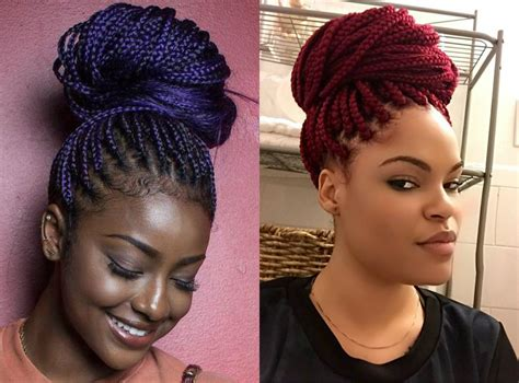 box braids bun hairstyles   swear  hairstyles