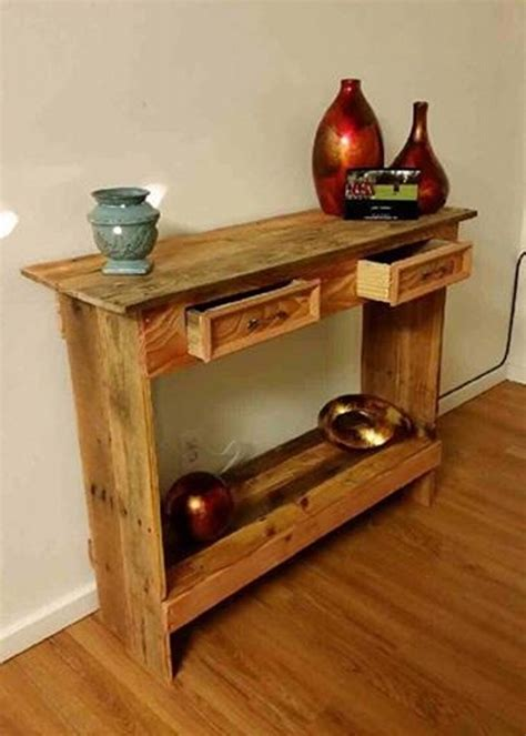 rustic wood entry table rustic pallet wood entry hallway table pallet ideas