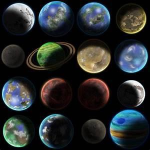 16 Planet Sprites