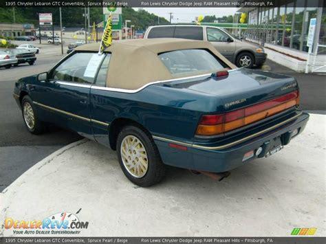 1995 Chrysler Lebaron Gtc Convertible by 1995 Chrysler Lebaron Gtc Convertible Spruce Pearl Beige
