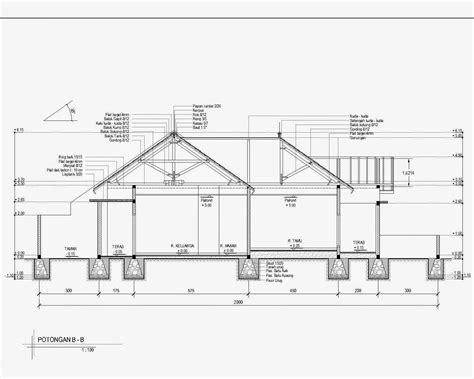 contoh denah rumah  autocad desain rumah