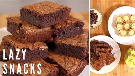 4 lazy snack recipes quick easy sweet snacks youtube
