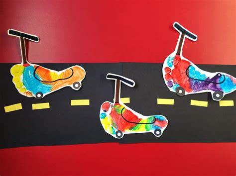Footprint/handprint Transportation Crafts For Kids