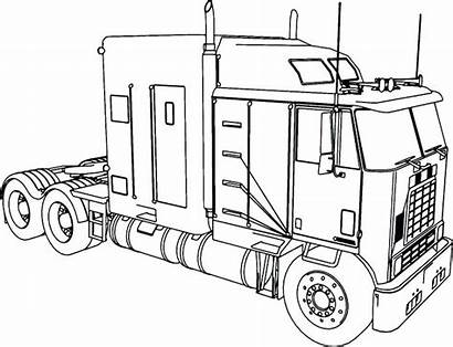 Coloring Truck Pages Trailer Semi Getdrawings