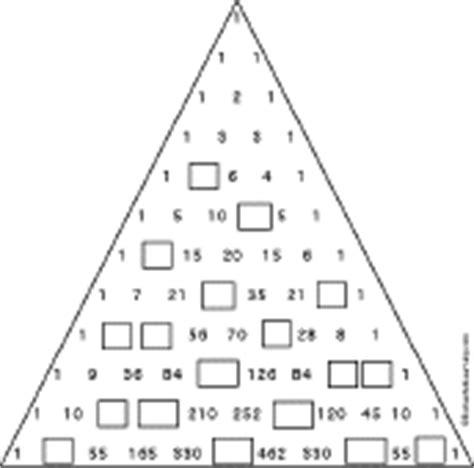 pascal s triangle worksheet enchantedlearning