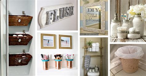 After all, the vanity is most likely the focal point of your entire bathroom decor. 15 Cheap and Easy DIY Bathroom Ideas - Style Motivation
