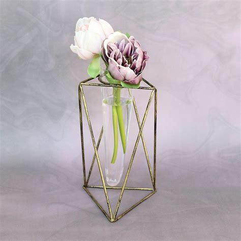 Vase Stand Decor Vase Flower Vase by Metal Vector Geometric Flower Vase 8 5 H Me Vase