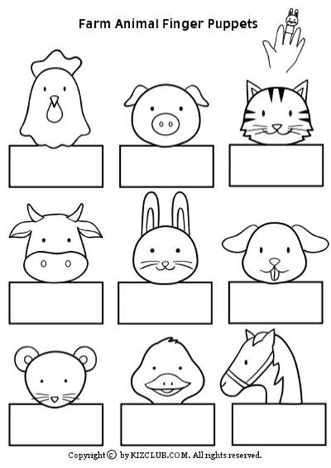 Paper Finger Puppets Templates by 1000 Images About Farm Crafts For On