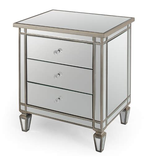 mirrored end tables nightstands mirrored table nightstand side table tmf627245