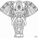 Coloring Elephant Zentangle Mandala Sheets Printable Elefante Colorear Dibujos Elefant Imprimir Colouring Dibujo Seniors Animal Animals Gratis Pintar Supercoloring Mandalas sketch template